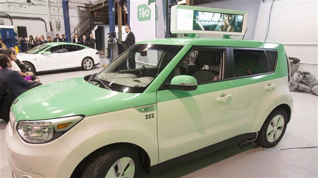 Les voitures de Téo Taxi circulent à Montréal depuis novembre.