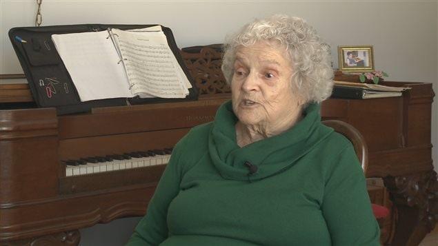 Léonie Gareau la fille de l'enseignante Dolores Roberge