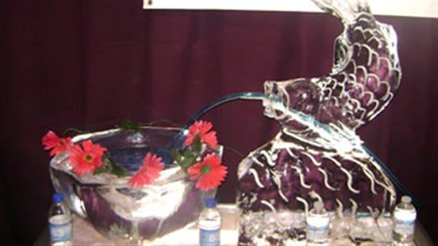 Un poisson en glace