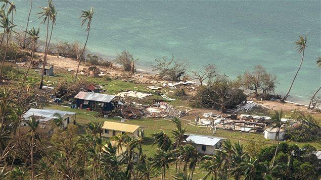Le village de Susui aux îles Fidji a été particulièrement ravagé par le cyclone Winston.
