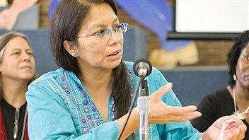 Judy Da Silva, membre de la Première Nation Grassy Narrows croit que l'accès à de l'eau potable est un droit fondamental de la personne