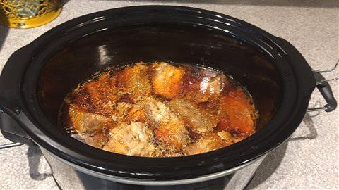 Les filets de porc après une nuit de cuisson