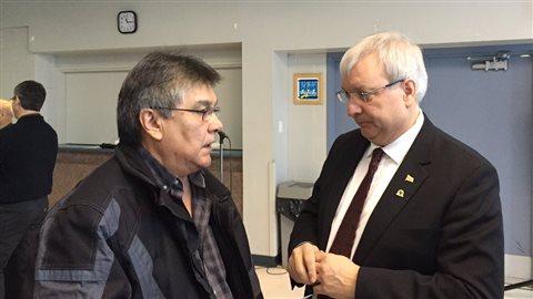 Le chef de la communauté de Wolf Lake, Harry St-Denis, veut conserver les droits ancestraux des communautés autochtones du Témiscamingue sur le territoire du futur Parc Opémican
