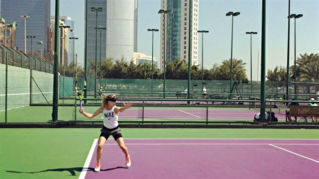 Eugenie Bouchard à Doha
