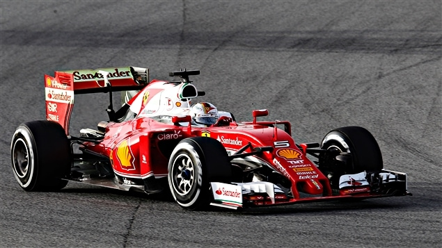 Sebastian Vettel dans la SF16-H