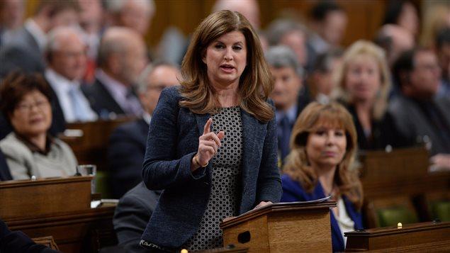 La chef intérimaire du Parti conservateur, Rona Ambrose, à la Chambre des communes
