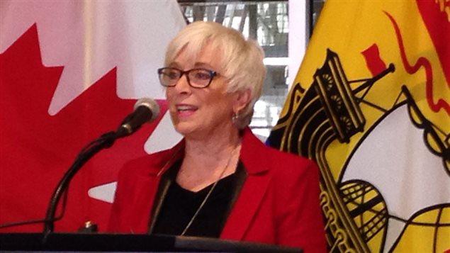 Cathy Rogers, ministre du Développement social du N.-B.
