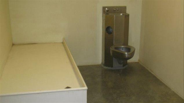 L'intérieur d'une cellule de la prison de Guantanamo