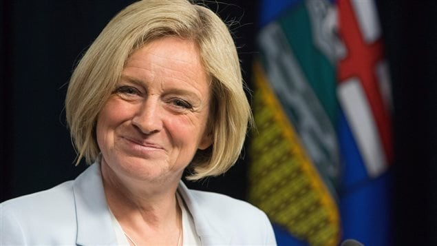 Rachel Notley, première ministre de l'Alberta.