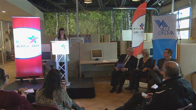 La conférence de presse des organisateurs des Jeux du Québec à Alma, mercredi.