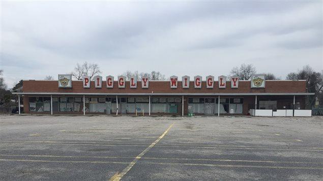 Un supermarché abandonné à Orangeburg, en Caroline du Sud