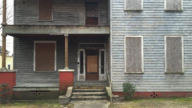 Maison abandonnée à Orangeburg, en Caroline du Sud