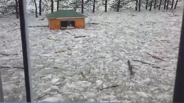 Inondation à Waterville