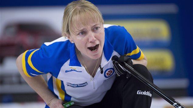 La troisième pierre de l'Alberta au Tournoi des coeurs, Amy Nixon