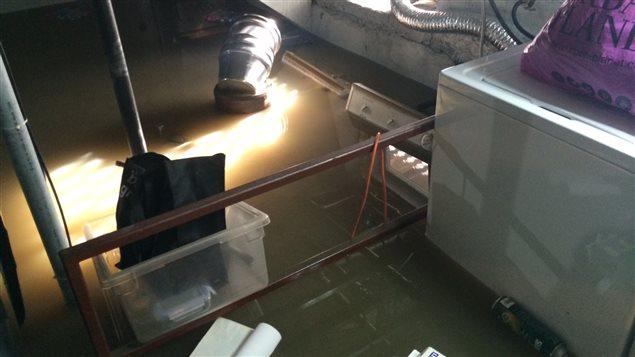 Plusieurs sous-sols de résidences à Beauceville ont été inondés.