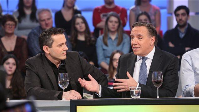Jean Poirier et François Legault