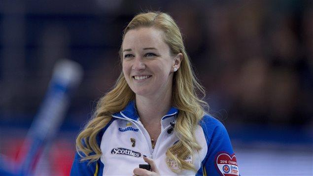 La capitaine de l'Alberta au Tournoi des coeurs, Chelsea Carey