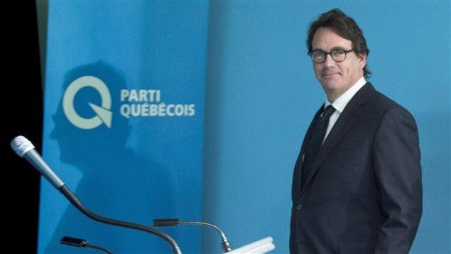 Le chef du Parti québécois, Pierre Karl Peladeau (28 janvier 2016)