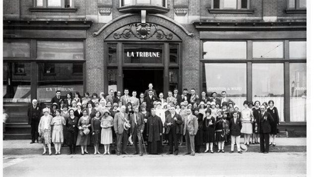 Des employés de La Tribune en 1928