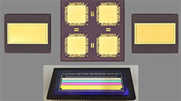 Des échantillons de diverses microélectronique vu dans le Projet OSensor
