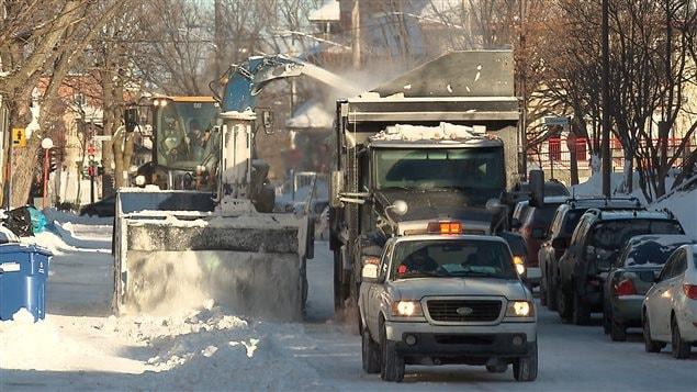 La région de Québec a déjà reçu 20 cm de neige dans la nuit de dimanche à lundi.