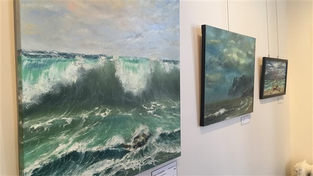 Les oeuvres de Yuliya Chernyshova exposées au B&B Île de Garde à Sherbrooke
