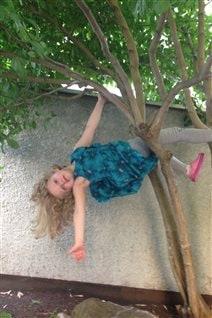 La petite soeur de Lola, Zoé, dans le fameux arbre