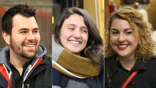 Patrick Maltais, Camille Bergeron-Parent et Annie Daigle
