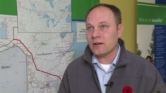Tim Duboyce, porte-parole du projet Énergie Est à TransCanada.