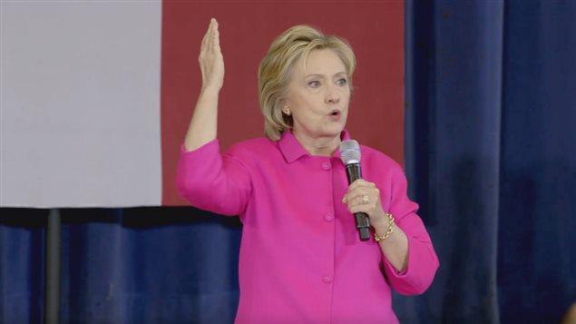 Capture d'écran de la publicité d'Hillary Clinton