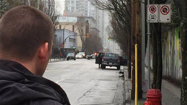 Une voiture abandonnée suspecte au centre-ville de Vancouver.