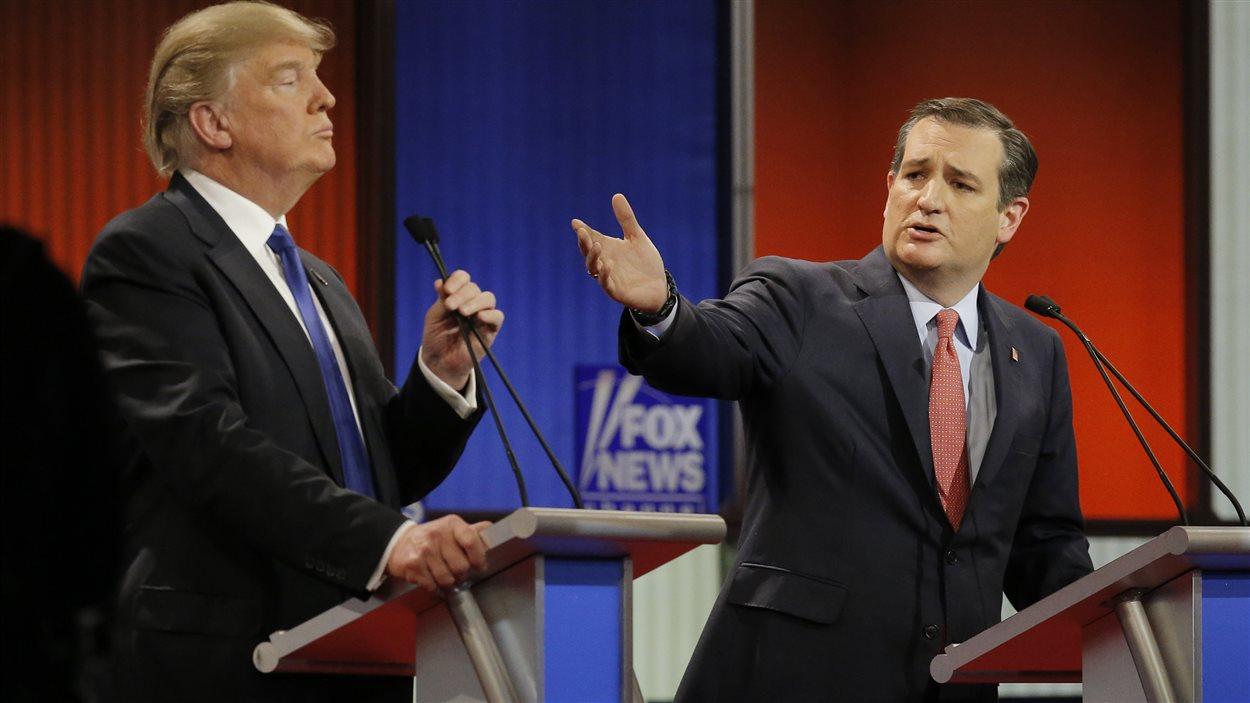 Donald Trump et Ted Cruz à Détroit, au Michigan, le 3 mars 2016