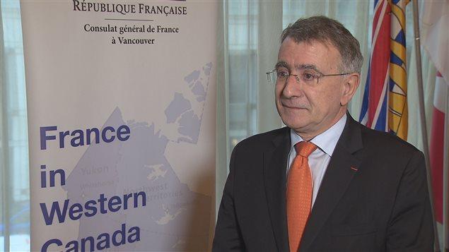 Nicolas Chapuis, ambassadeur de France au Canada, lors de son passage à la conférence Globe 2016 à Vancouver.