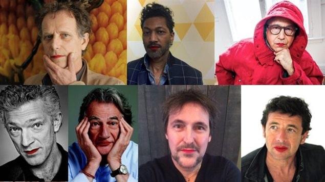 Des personnalités qui ont pris part à la campagne « Mettez du rouge ».