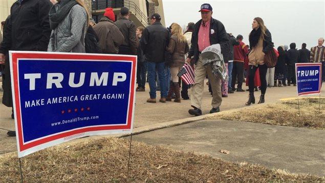 Un rassemblement pro-Trump à Tulsa, en Oklahoma, le 20 janvier 2016.