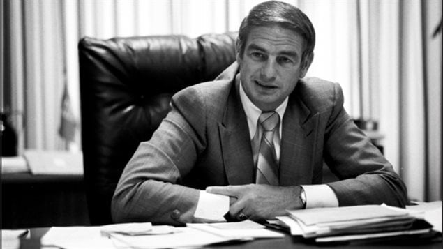 Don Getty en septembre 1978, quand il était ministre de l'Énergie et des Ressources naturelles de l'Alberta