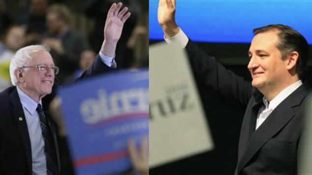 Bernie Sanders et Ted Cruz