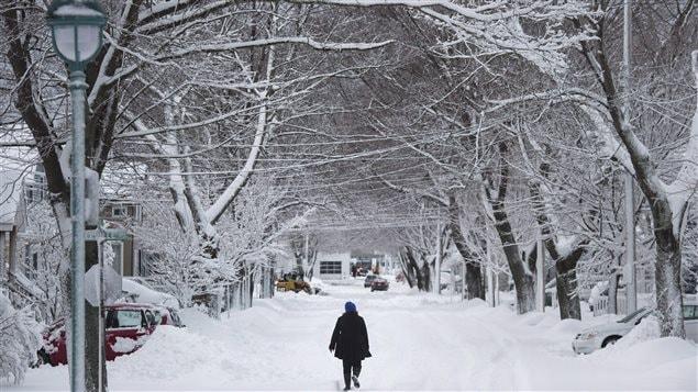 Tempête à Halifax, Nouvelle-Écosse, le 13 janvier 2016