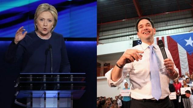 Hillary Clinton et Marco Rubio