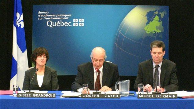 Début des travaux du Bureau d'audiences publiques sur l'environnement (BAPE) sur le projet d'oléoduc Énergie Est.
