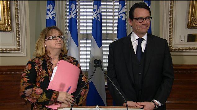 Carole Poirier et Pierre Karl Péladeau