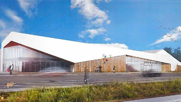Le plan prévu pour le futur complexe sportif d'Amos