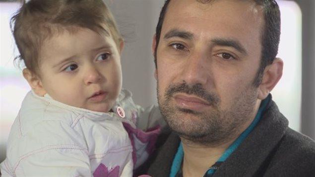 Amer Mejarmish et sa fille.