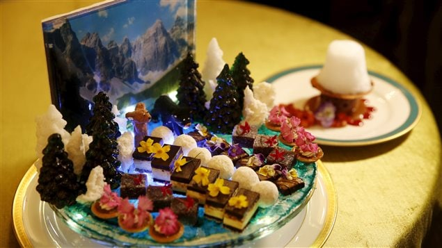 Un des desserts qui seront servis au dîner d'État pour Justin Trudeau