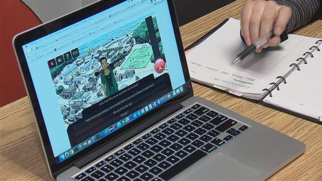 Le logiciel informatique propose des simulations aux joueurs.