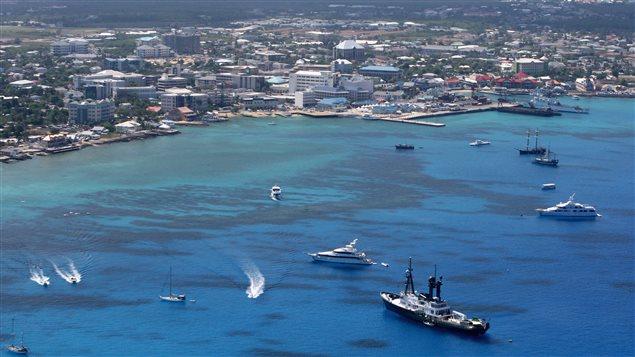 Les îles Caïmans dans les Caraïbes.