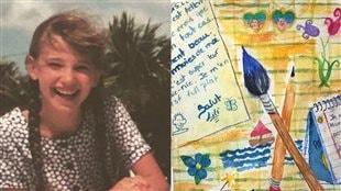 Le journal intime d'Audrée Wilhelmy, rédigé au tendre âge de 13 ans.