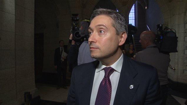Le député de Saint-Maurice-Champlain, François-Philippe Champagne.
