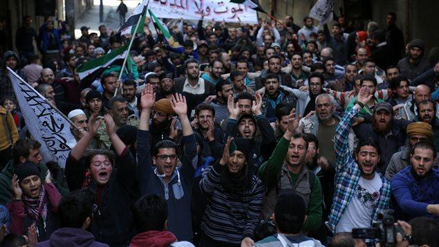 Une nouvelle manifestation anti-régime a eu lieu vendredi, à Alep.