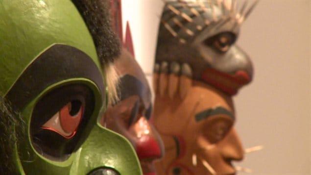 Des masques de Premières Nations au musée d'art Audain à Whistler